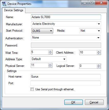 Initial settings for GXDLMSDirector | Gurux for DLMS smart