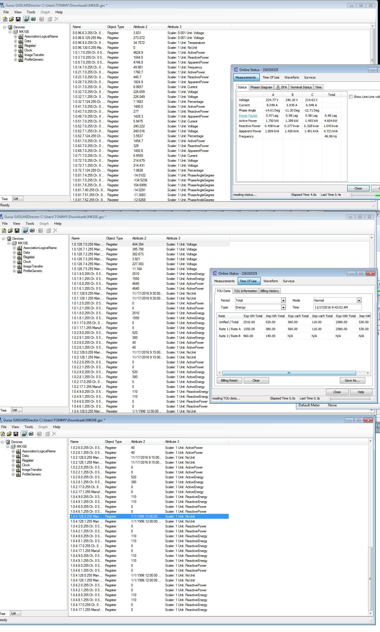 Read DLMS EDMI ATLAS MK10E seem wrong in Obis Code List and Data